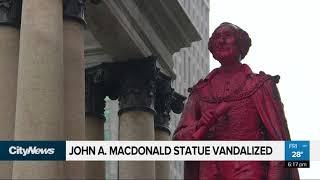 John A. Macdonald statue vandalized