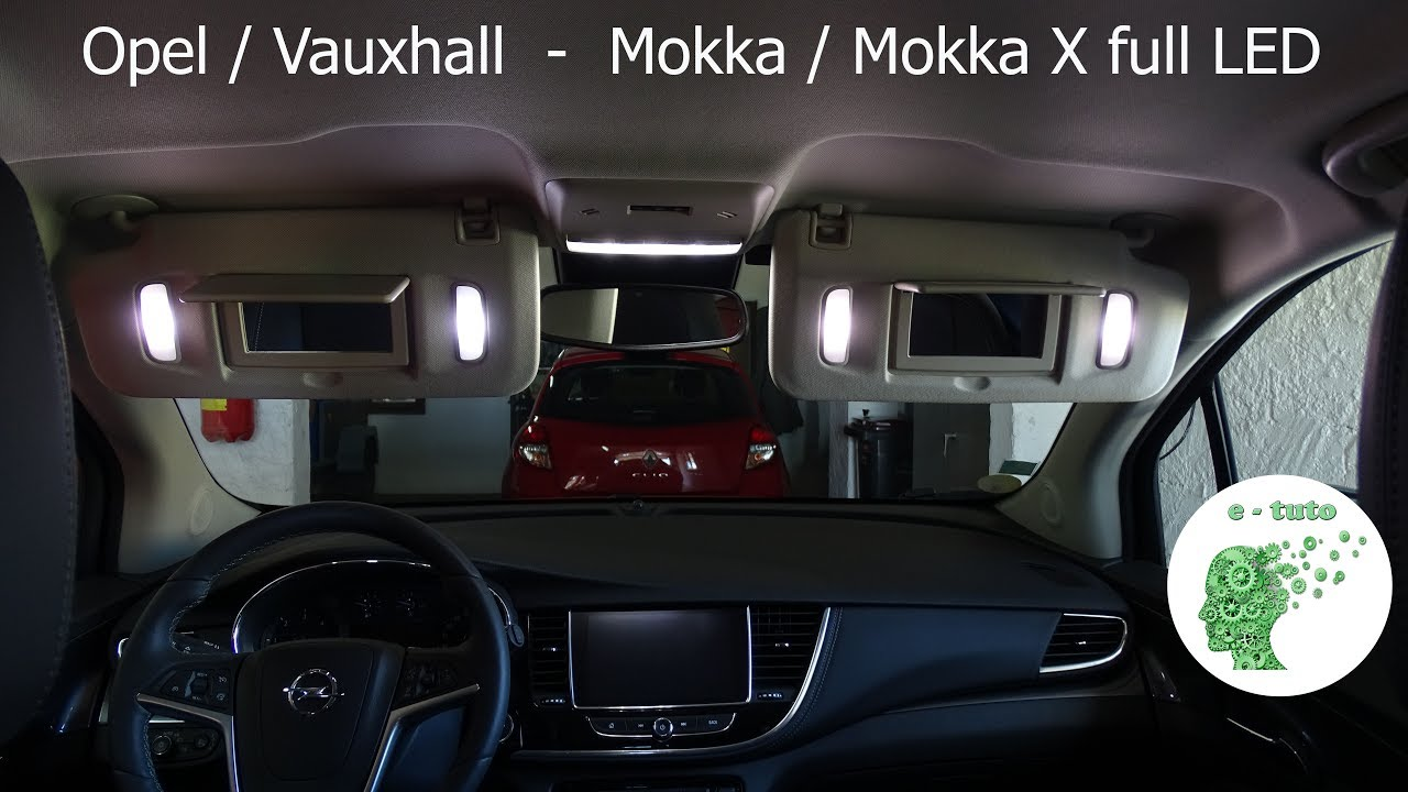 eclairage int rieur avec ampoules led sur opel mokka x youtube. Black Bedroom Furniture Sets. Home Design Ideas