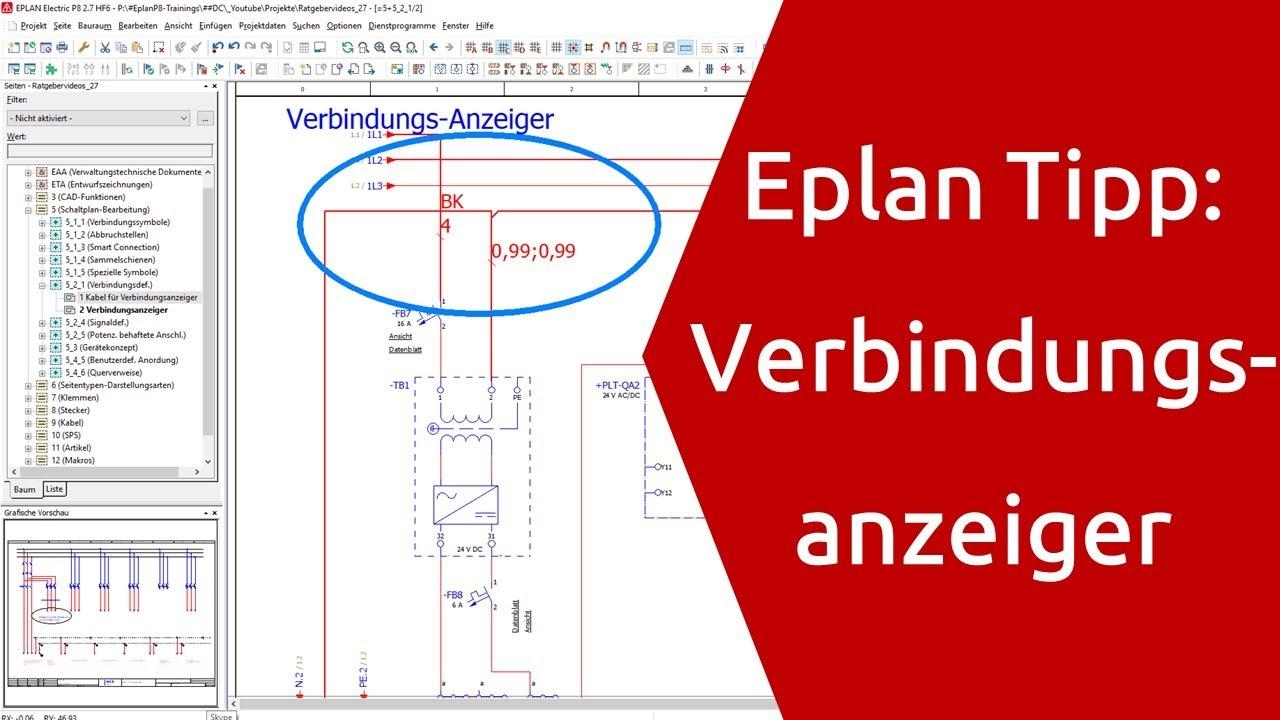 Eplan . Eplan P8 Tipp Verbindungsanzeiger Eplan P8 Tutorial Youtube