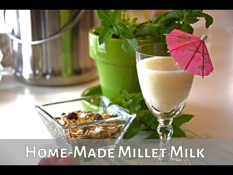 Learn how to make non-dairy milk from millet