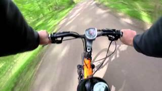 80cc Motorized Bicycle Ride GoPro 3 HD