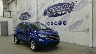 2018 Ford EcoSport SE W/ 1.0L EcoBoost, Heated Seats Overview | Boundary Ford