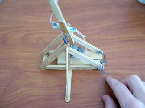Popsicle trebuchet youtube What to make out of popsicle sticks