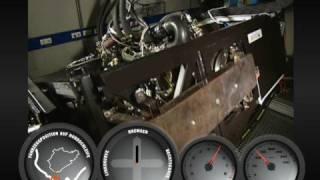 Banc d'essai du moteur de la Porsche 911