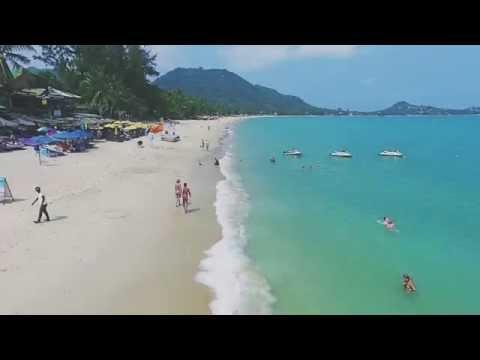 Lamai Beach Aerial Video by a Drone, Koh Samui