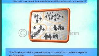 This animation introduces the learner to concept of staffing, its definition, staffing as a process, need and importance same how staffing...
