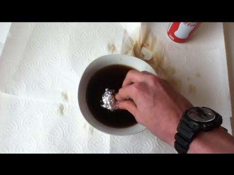 Wie kann ich: Rost entfernen - mit Cola und Aluminium Folie Rost entfernen - Cola Entfernung