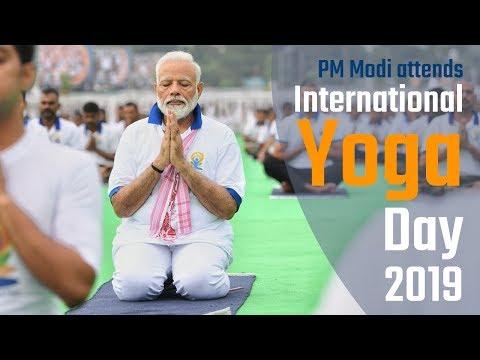 PM Modi attends International Yoga Day 2019  in Ranchi, Jharkhand