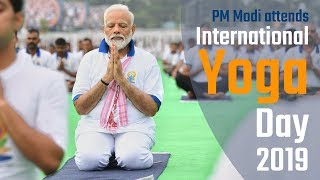 PM Modi attends International Yoga Day 2019  in Ranchi, Jharkhand