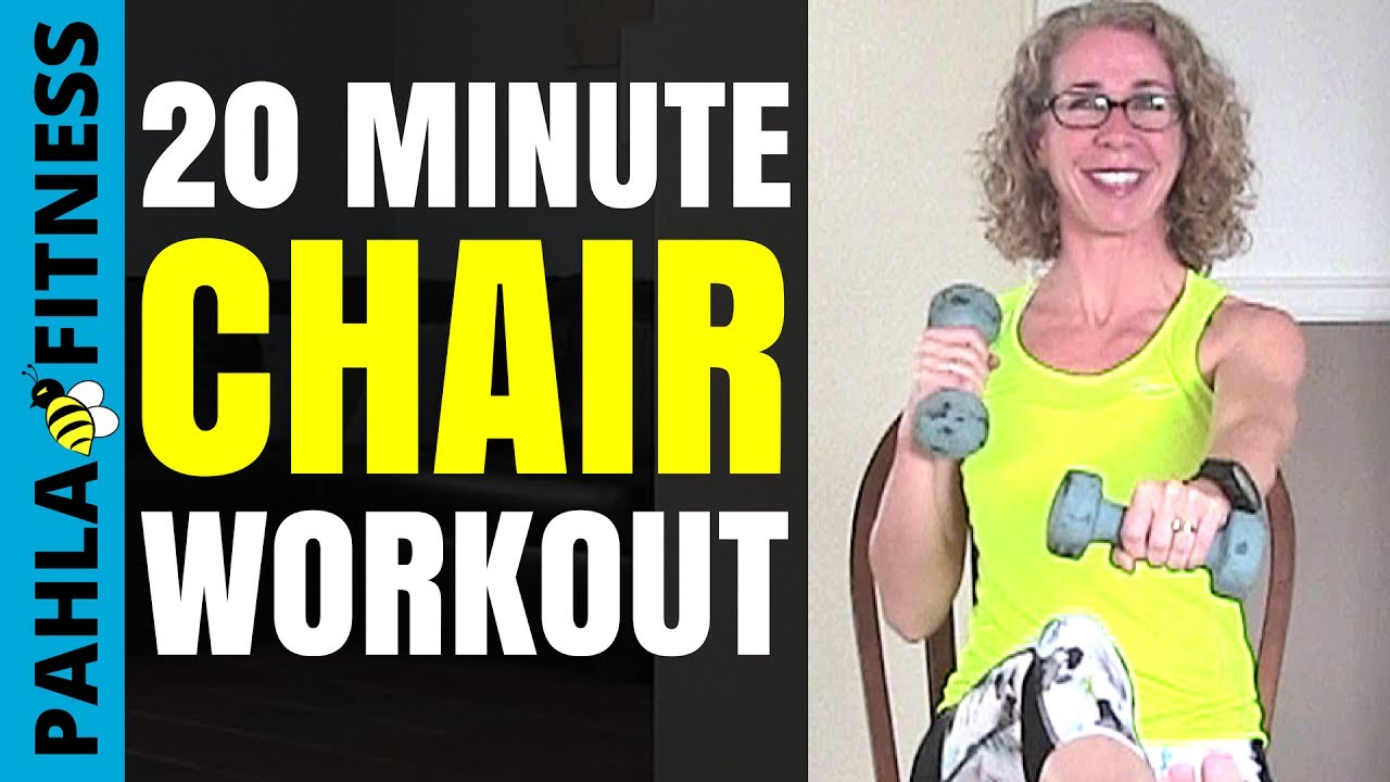 20 Minute SEATED Workout with DUMBBELLS | Full Body BEGINNER Exercise  Routine SITTING in a CHAIR
