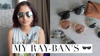 My Ray-Ban Sunglasses Collection // Magali Vaz(Talking about my humble little Ray-Ban sunglass collection today. Which one is your favorite? Also see: MY WATCH COLLECTION https://youtu.be/9-TJraq-QYI ..., 2016-10-26T07:18:20.000Z)