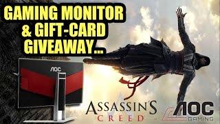 Gaming Monitor & Gift Card Give-Away!   AOC + Assassin