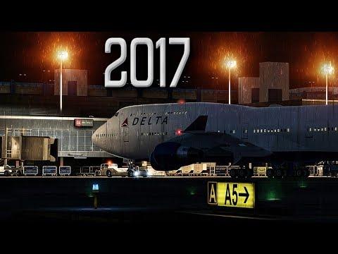 Scary Thunderstorm Takeoff   New Flight Simulator 2017 [P3D 4.1 - Ultra Realism]