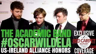 The Academic Band interviewed at the Oscar Wilde Awards ☘️ at Bad Robot #OscarWildeLA ‏