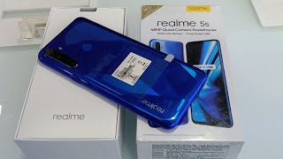 Realme 5s Crystal Blue Unboxing, Review & First Look !! Realme 5s Specifications , Camera