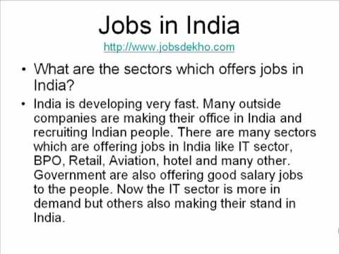 Get variety of jobs in India