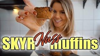 SKYR NUSS MUFFINS - gesund und einfach | Fitness Rezept 😋