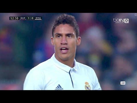 Raphael Varane vs Barcelona 720p HD 03/12/16 by Real Madrid.Universe