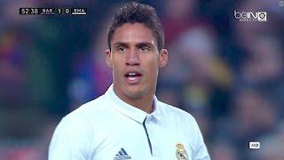 Raphael Varane vs Barcelona 720p HD 031216 by Real MadridUniverse