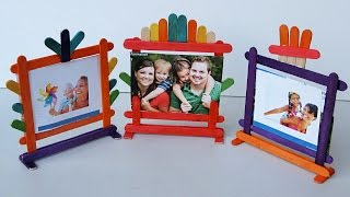 Popsicle Stick Crafts - How to make Photo Frames |