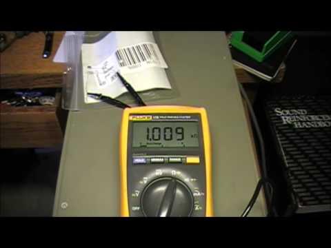 Honda Magna Low Fuel Sensor Thermistor Test - YouTube