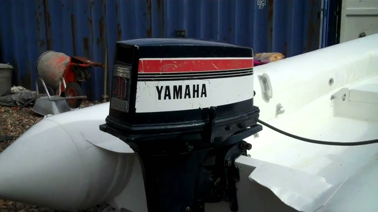 Bison rib and yamaha 40hp outboard youtube for How to winterize yamaha outboard