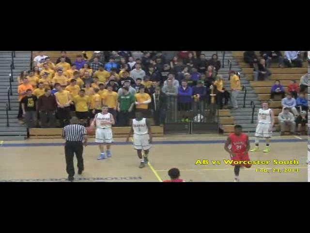 Acton Boxborough Varsity Boys Basketball vs Worcester South 2/24/14