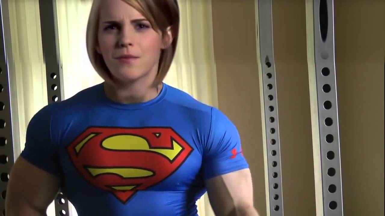 emma watson headswap huge superman muscles 720p - YouTube