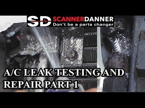 A/C Leak Testing and Repair part 1 - 95 Jeep