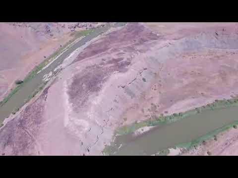 Euphrates River,  Erzincan Kemah Province ERİÇ-3 Hydropower plant Project drone flight