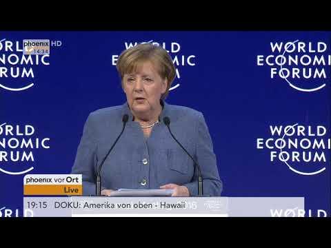 Rede von Bundeskanzlerin Angela Merkel beim 48. Weltwirtschaftsforum in Davos am 24.01.18