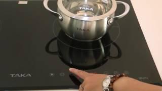 Bếp điện từ Taka IR2A1  Bếp điện từ đôi với nhiều tình năng tự động thông minh