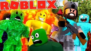 ZOMBIE INVASION IN ROBLOX!!!!