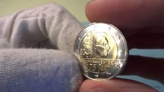 Обзор монеты 2 евро Люксембург 2014 | 2 euro Luxembourg 2014 | Нумизматика и коллекционирование(Оставляйте комментарии, ставьте