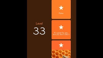 94% Answers Level 33 - Poker & Good For You, But You Don't Like