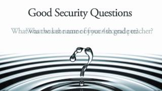 Good Security Questions and Answers