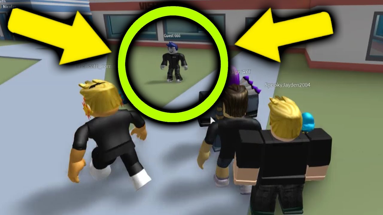 Guest 666 Joined My Roblox Jailbreak Lobby Scary Youtube