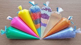 Making Crunchy Slime with Piping Bags #138
