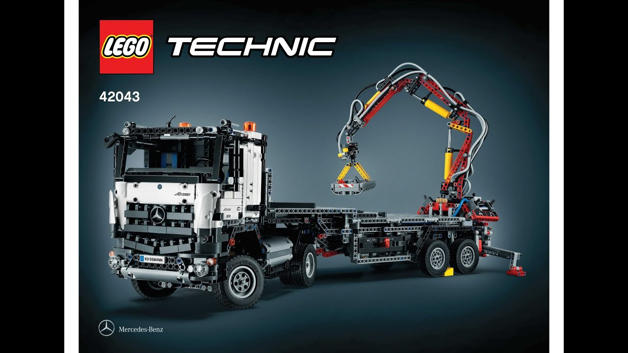 lego 42043 mercedes benz articuled construction truck instructions b model lego technic 2015. Black Bedroom Furniture Sets. Home Design Ideas
