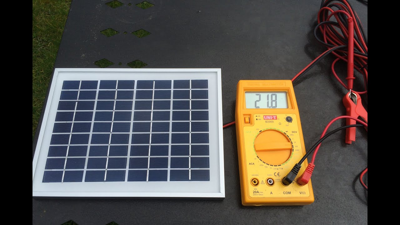 Solar Panel 10w Battery Charger Youtube