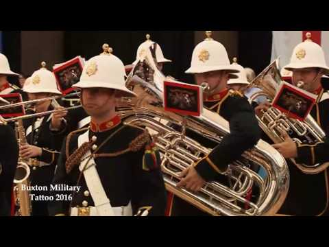 Buxton Military Tattoo 2016 - National Anthem and Massed Bands March Off