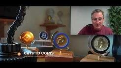 Decorative BTC & DGB Crypto Coins