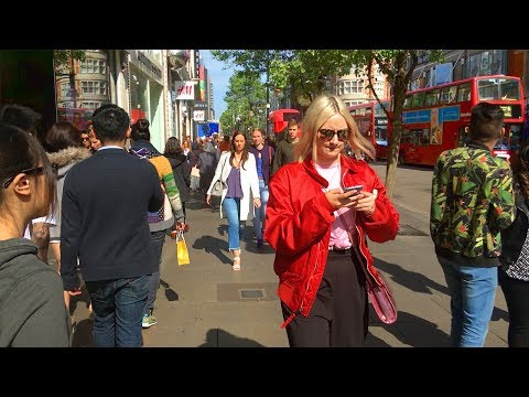 LONDON WALK | Oxford Street from Marble Arch to Oxford Circus | England