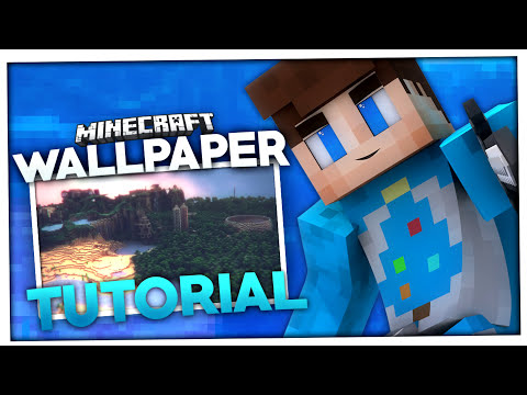 Minecraft wallpaper erstellen mineways tutorial baumblau resourcepack clip60 - Wallpaper erstellen ...
