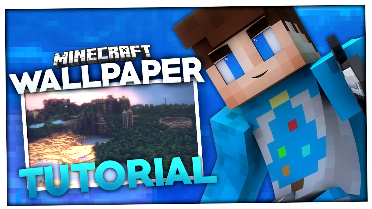 Minecraft wallpaper erstellen mineways tutorial baumblau youtube - Wallpaper erstellen ...