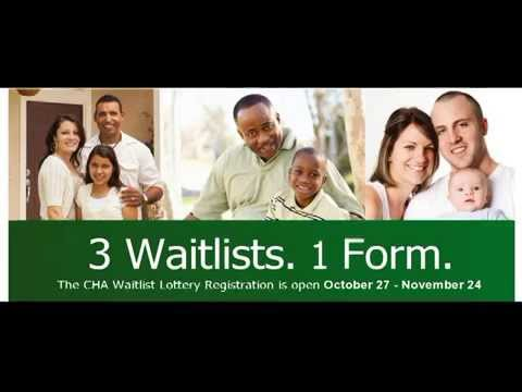 WaitList Registration Sign up starting October 27, 2014 Chicago Housing Authority