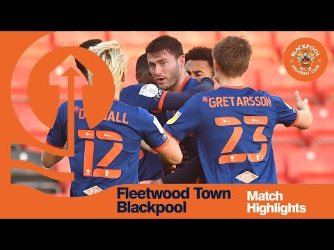 Fleetwood Town Blackpool Goals And Highlights