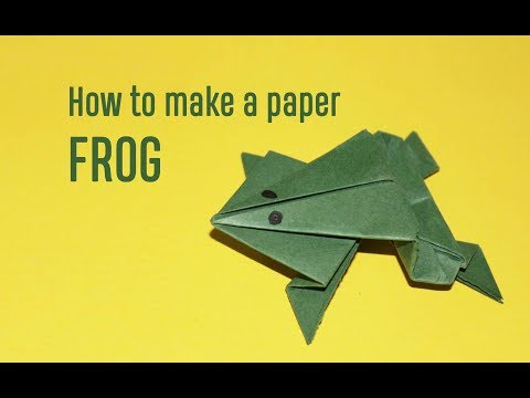 Origami: How to make a paper frog DIY