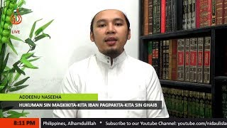 Hukuman sin Magkikita-kita iban Pagpakita-kita - Shaykh Abdussabour Muhaimin Sakili (Tausug)