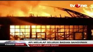 Berita hari Ini , Hotel Puncak Pass Ludes Terbakar, Warta Kita